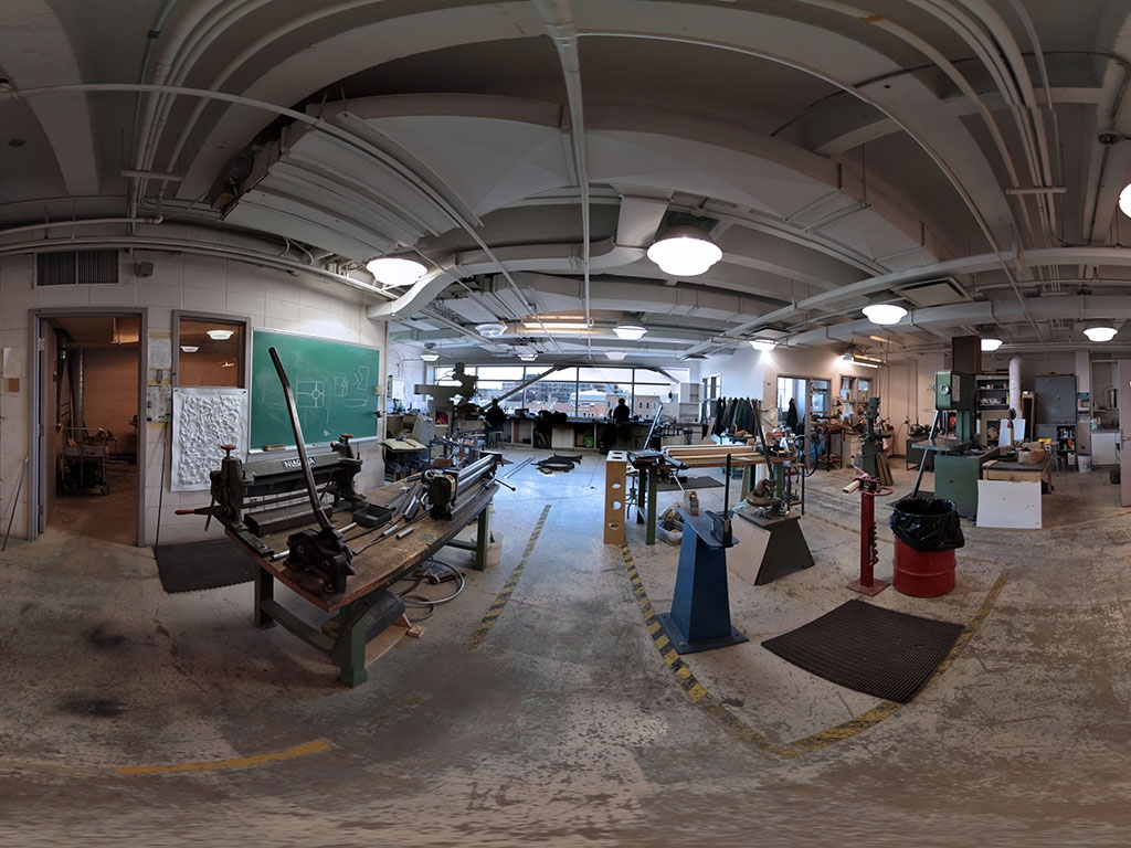 Visual arts school machine shop