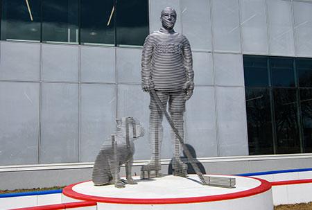 Œuvre d'art en l'honneur de Joe Malone.