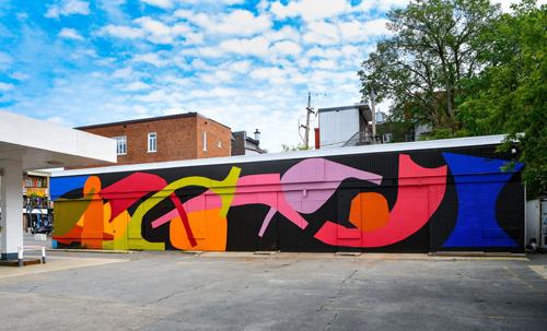 Murale Herbier urbain.