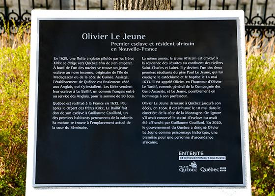 Photo de la plaque commémorative.